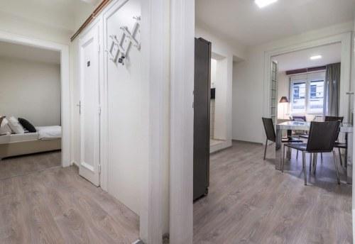 Apartmani Beograd | Apartmani na dan Beograd | Apartman A26 - Pogled na trpezariju i spavaću sobu