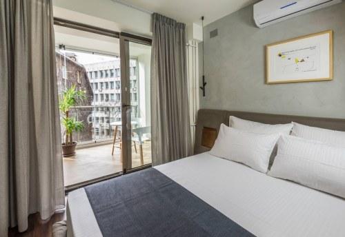 Apartmani Beograd | Apartman A36 | Apartmani Beograd stan na dan - Pogled na terasu iz spavaće sobe