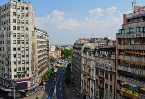 Apartmani Beograd | Apartman A16 | Strogi centar Terazije - Pogled sa terase