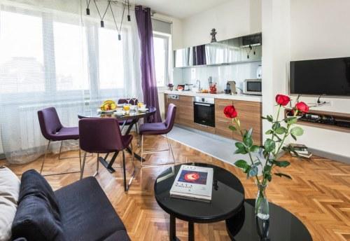 Apartmani Beograd | Apartman A37 | Sa parkingom - Dnevni boravak, trpezarija i kuhinja