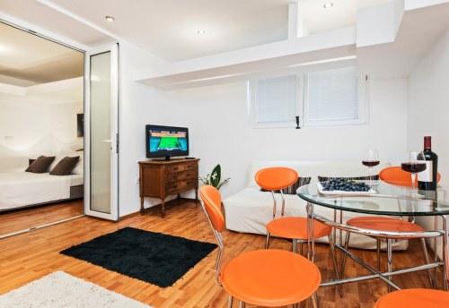 Apartmani Beograd | Najjeftiniji smeštaj | Apartman A0' - Dnevni boravak i trpezarija