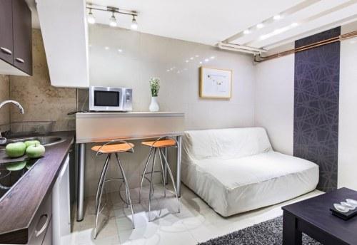 Apartmani Beograd | Jeftin smeštaj sa parkingom | Apartman A0 - Dnevni boravak i kuhinja