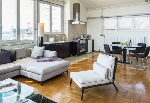 Apartmani Beograd | Jeftini apartmani Beograd | Apartman A4 - Dnevni boravak, trpezarija i kuhinja