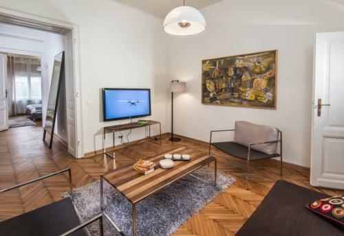 Apartmani Beograd | Smeštaj Beograd | Apartman A33 - Dnevni boravak sa pogledom na spavaću sobu