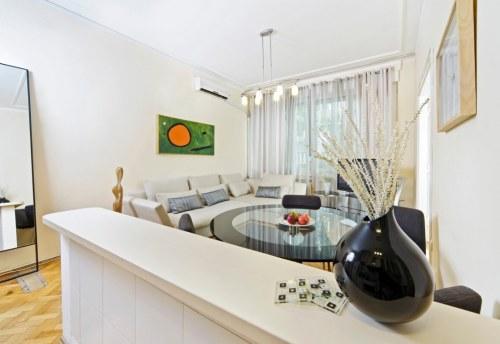 Apartmani Beograd | Apartman A9 | Strogi centar Kalemegdan - Dnevni boravak, trpezarija i kuhinja