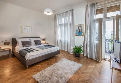 Apartmani Beograd | Smeštaj Beograd | Apartman A33 - Spavaća soba sa pogledom na terasu
