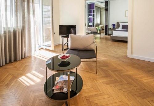Apartmani Beograd | Luksuzni apartmani Beograd | Apartman A14 - Pogled na spavaću sobu iz dnevnog boravka