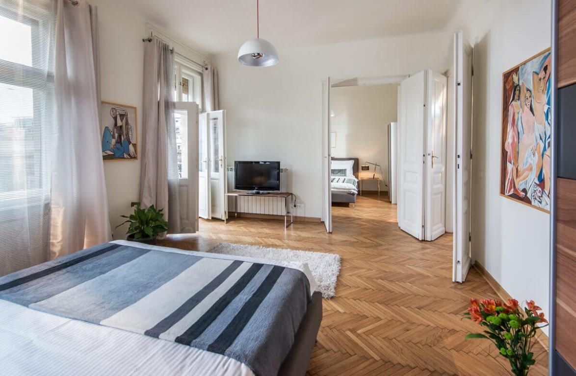Apartmani Beograd | Smeštaj Beograd | Apartman A33 - Pogled na obe spavaća sobe