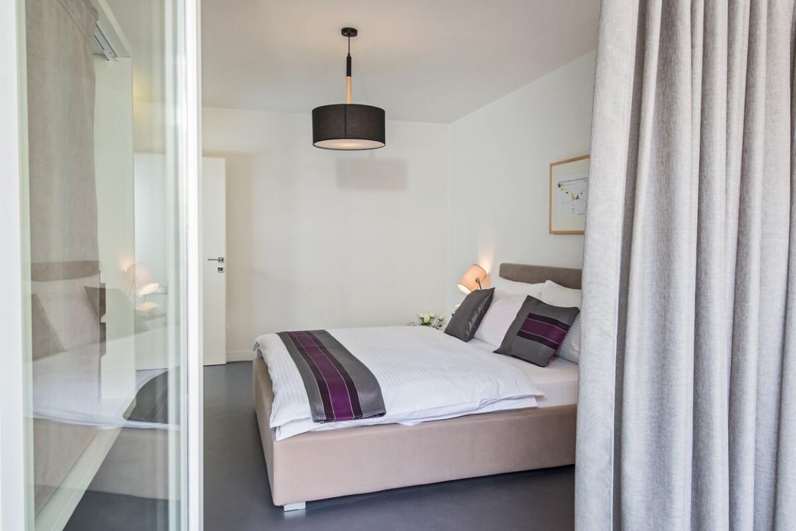 Apartmani Beograd | Luksuzni smeštaj Beograd | Apartman A10 - Pogled na spavaću sobu sa terase