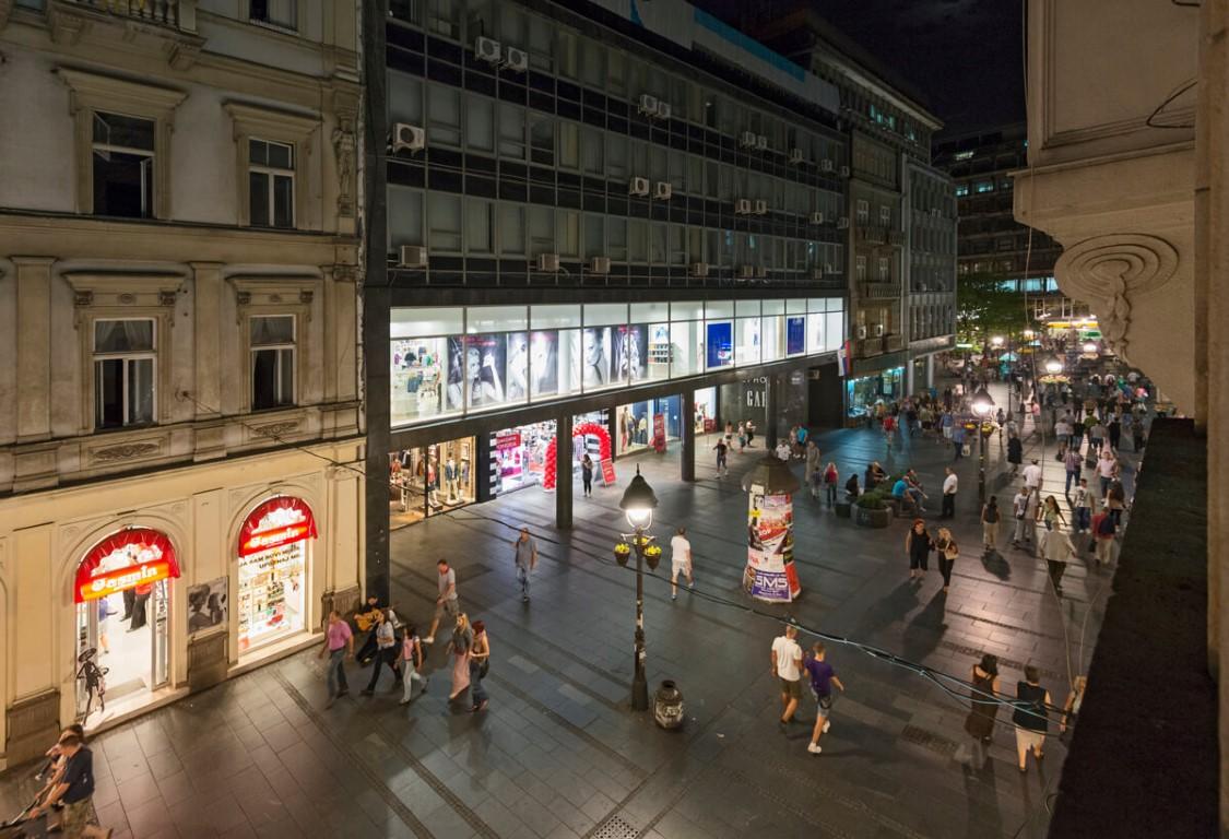 Apartmani Beograd | Apartman A18 | Pešačka zona - Pogled sa terase