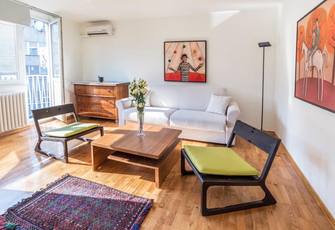 Apartmani Beograd | Apartman A23 | Skadarlija - Dnevni boravak