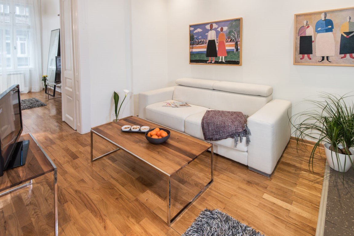 Apartmani Beograd | Pešačka zona | Apartman A12 - Dnevni boravak