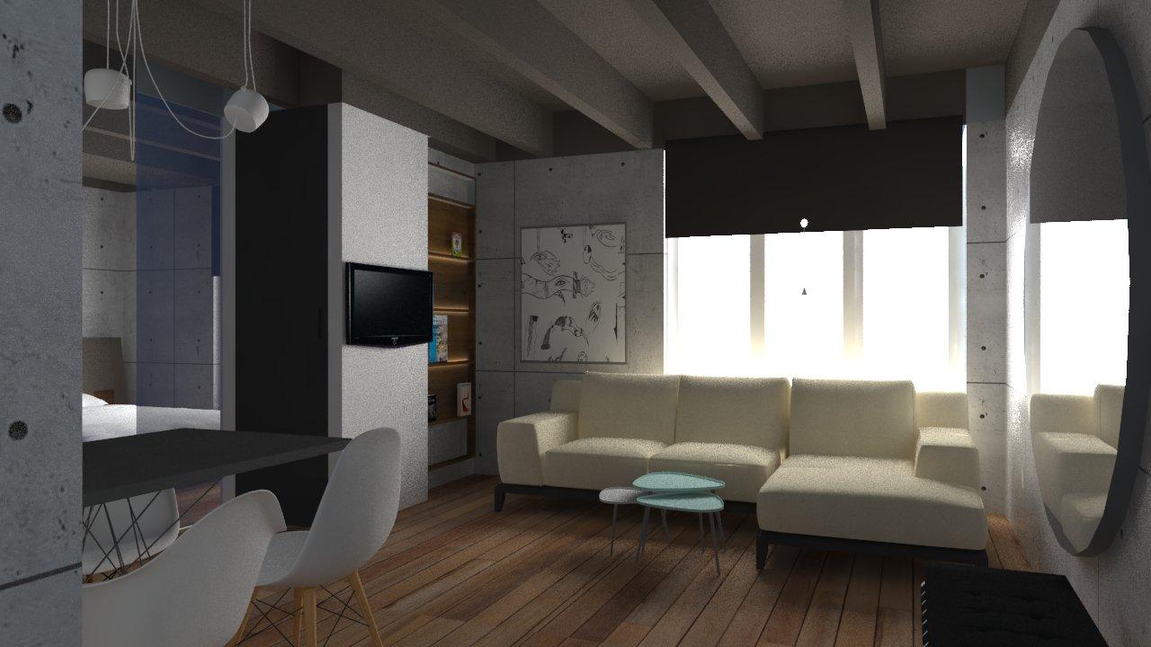 Apartmani Beograd | Luksuzni apartmani u Beogradu | Apartman A34 - Dnevni boravak, trpezarija i kuhinja