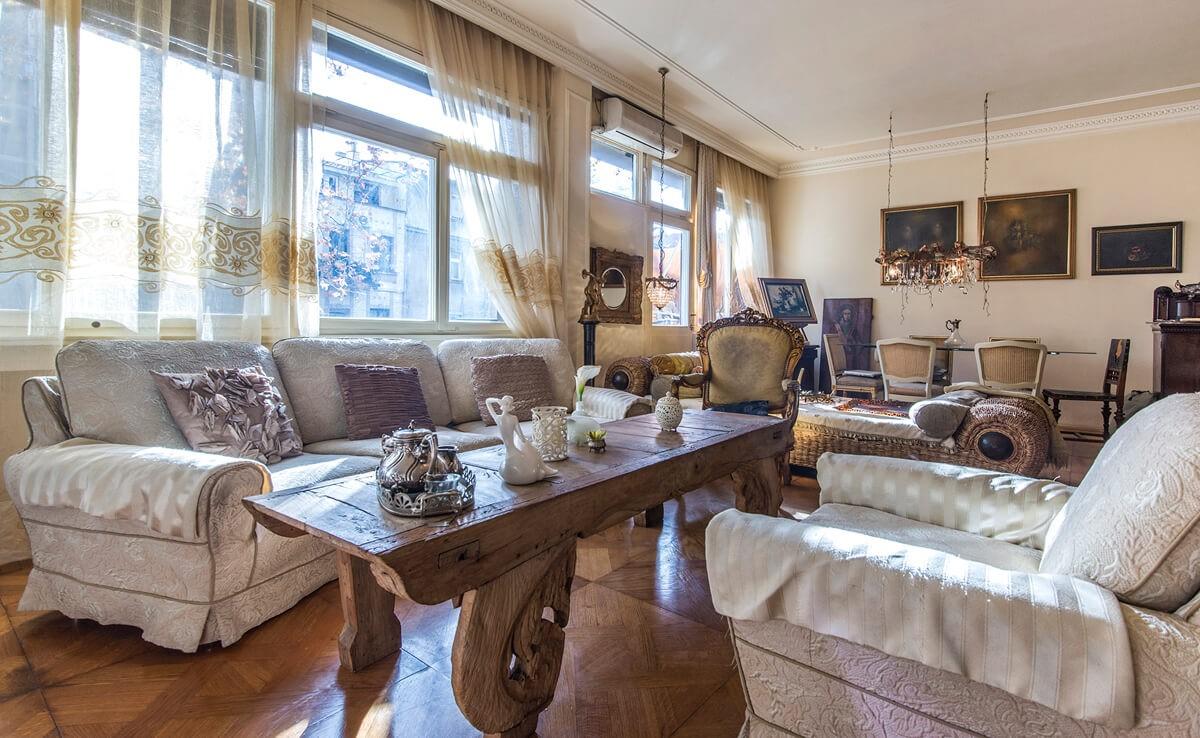 Apartmani Beograd | Apartman A44 | Strogi centar - Dnevni boravak i trpezarija