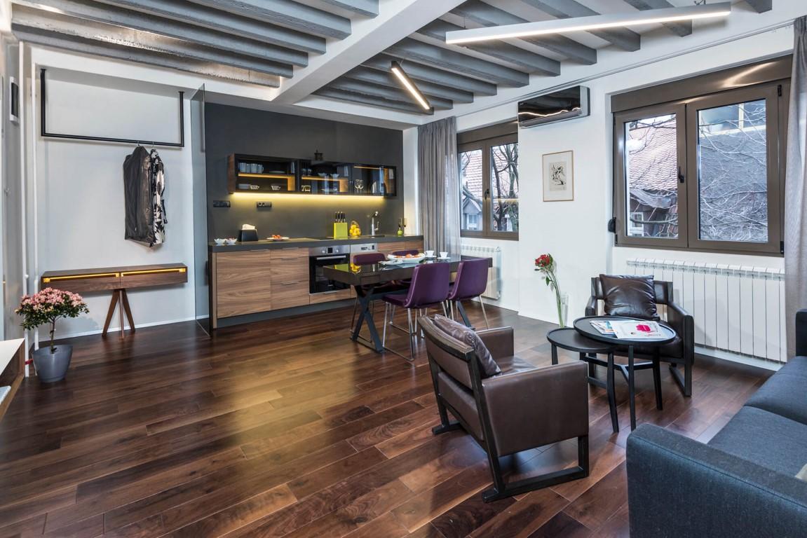 Apartmani Beograd | Apartmani u Beogradu | Apartman A5 - Dnevni boravak, trpezarija i kuhinja