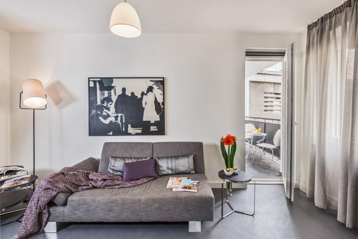Apartmani Beograd | Luksuzni smeštaj Beograd | Apartman A10 - Dnevni boravak i terasa