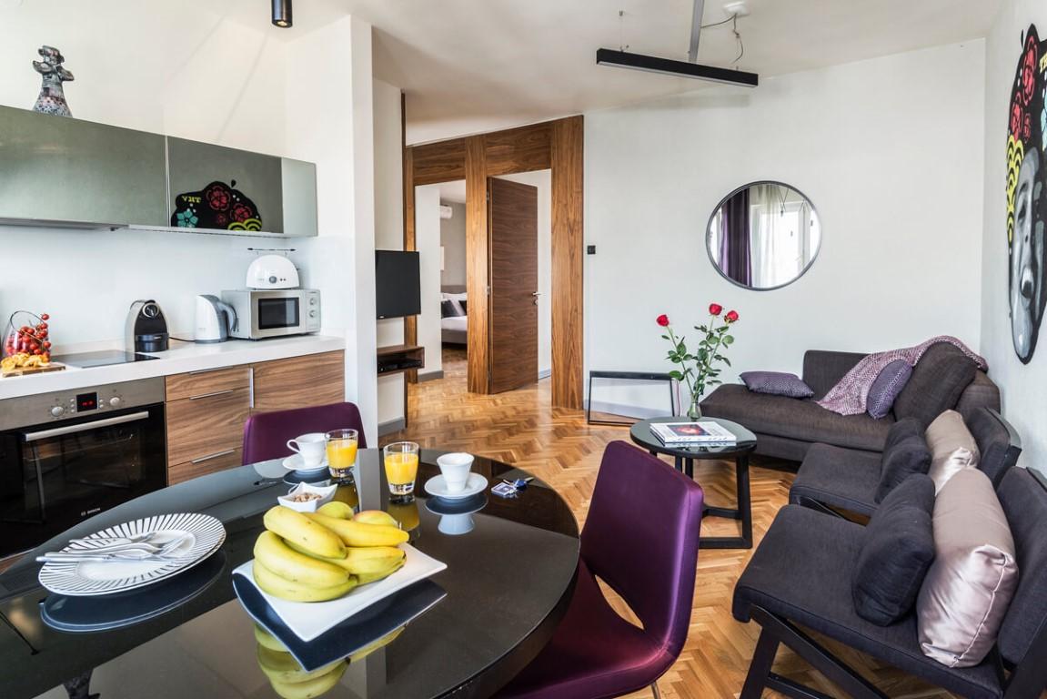 Apartmani Beograd | Beograd Apartmani | Apartman A11 - Dnevni boravak, trpezarija i kuhinja