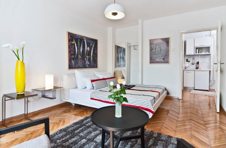 Apartmani Beograd | Povoljno | Apartman A13 - Dnevni boravak sa pogledom na kuhinju