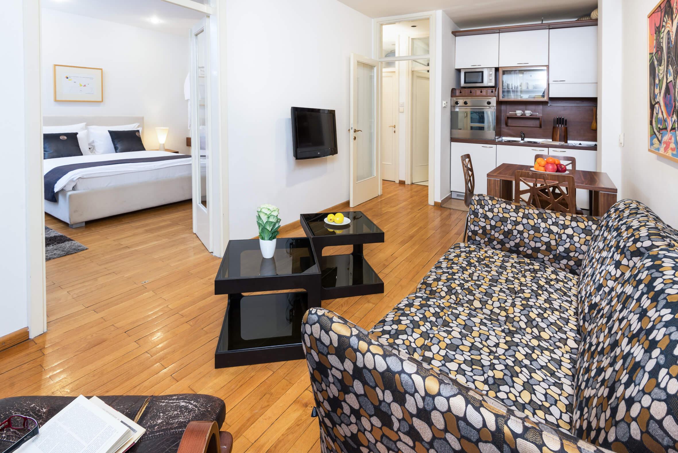 Apartmani Beograd | Stan na dan Beograd centar | Apartman A25 - Pogled na spavaću sobu